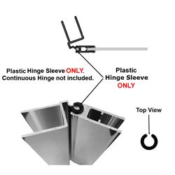 Hinge Sleeve For Shower Doors With Continuous Hinge 72 Quot Long