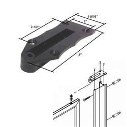 Black Nylon Framed Swing Shower Door Replacement Pivot