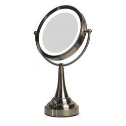 Zadro Ledv410 Led Lighted 10x 1x Round Table Top Vanity Mirror
