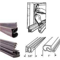 Bronze Magnetic Weatherstrip Replacement For Steel Doors Set